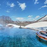 【リフト券なし】ご夕食バイキング★絶景!雪見の温泉と60種のバイキングメニューを堪能する 冬の1泊2食