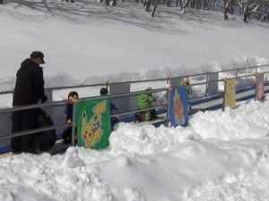 スノーエスカレータートリミング